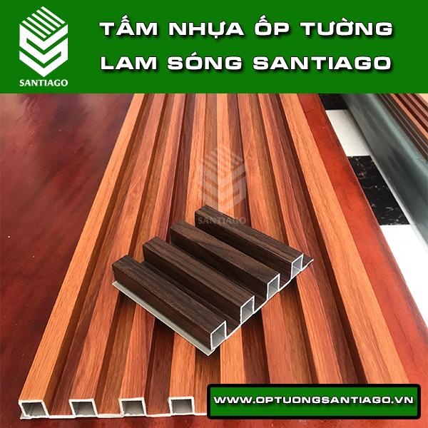 vật liệu ốp tường nhựa giả gỗ santiago